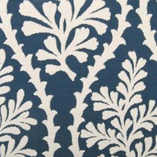 Navy Leaf Decorator Fabric by Duralee