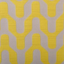 Yellow Geometric Decorator Fabric by Duralee