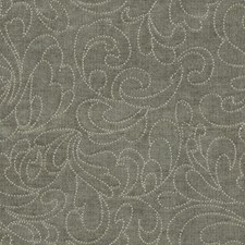 Gentle Grey Botanical Decorator Fabric by Kravet