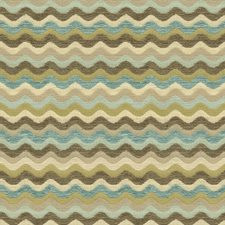 Beige/Light Blue/Brown Modern Decorator Fabric by Kravet
