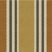 Yellow/Grey/Orange Stripes Decorator Fabric by Kravet