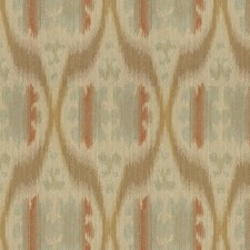 Blue/Grey/Orange Ikat Decorator Fabric by Kravet