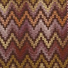Eggplant Flame Stitch Decorator Fabric by Duralee