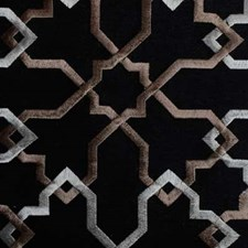 Black Abstract Decorator Fabric by Duralee
