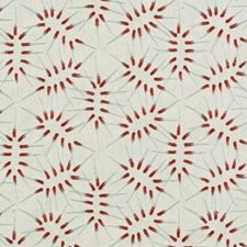 Mint/red Decorator Fabric by Duralee