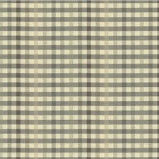 Beige/Grey Check Decorator Fabric by Kravet