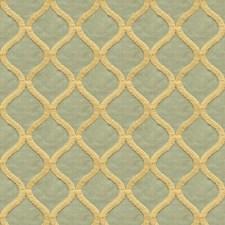 Blue/Green/White Modern Decorator Fabric by Kravet