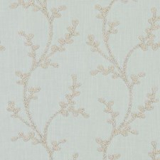 Seafoam Embroidery Decorator Fabric by Duralee