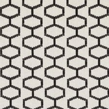 Black/Linen Embroidery Decorator Fabric by Duralee
