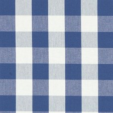 Blue Plaid Decorator Fabric by Duralee