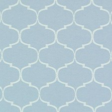 Aquamarine Geometric Decorator Fabric by Duralee