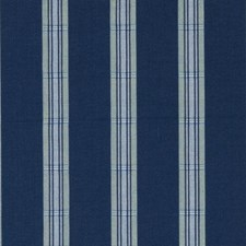 Blue/Green Stripe Decorator Fabric by Duralee