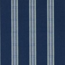 Blue/Green Stripe Decorator Fabric by Duralee