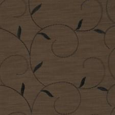 Coffee Embroidery Decorator Fabric by Fabricut