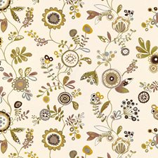 Grey Qunice Botanical Decorator Fabric by Kravet