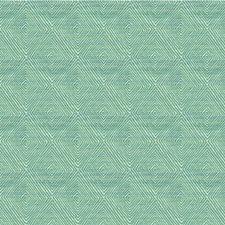 Beige/Light Blue/Teal Geometric Decorator Fabric by Kravet