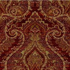 Burgundy/Rust/Sage Damask Decorator Fabric by Kravet
