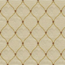 Beige/Gold/Brown Geometric Decorator Fabric by Kravet