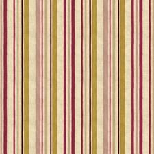 Beige/Fuschia/Gold Stripes Decorator Fabric by Kravet