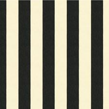 White/Black Stripes Decorator Fabric by Kravet