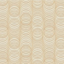Ivory/Gold Geometric Decorator Fabric by Kravet