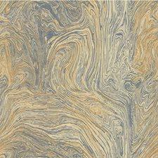 Blue/Beige/Slate Modern Decorator Fabric by Kravet