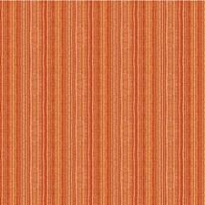 Yellow/Rust/Salmon Stripes Decorator Fabric by Kravet