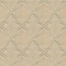 Beige/Silver Geometric Decorator Fabric by Kravet