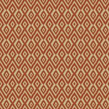 Beige/Orange/Grey Diamond Decorator Fabric by Kravet