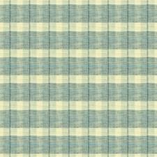 Light Blue/Ivory Plaid Decorator Fabric by Kravet