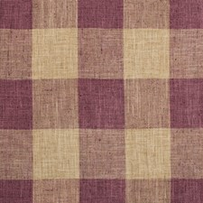 Purple/Beige/Burgundy Check Decorator Fabric by Kravet