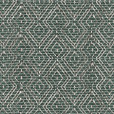 Teal/Turquoise/Ivory Diamond Decorator Fabric by Kravet