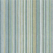 Ivory/Celery/Light Blue Stripes Decorator Fabric by Kravet