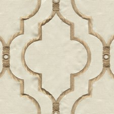Gold/Beige Geometric Decorator Fabric by Kravet