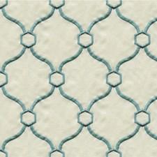 Light Blue/Beige Modern Decorator Fabric by Kravet