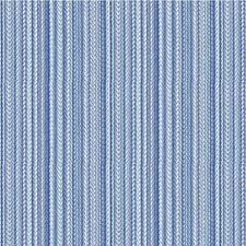 Blue/Ivory Stripes Decorator Fabric by Kravet