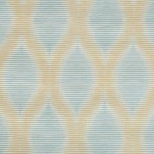 Gold/Light Blue/Beige Modern Decorator Fabric by Kravet