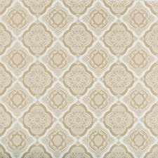 Beige/Ivory Medallion Decorator Fabric by Kravet
