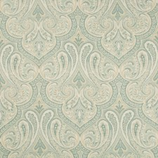 Light Blue/Light Green/Beige Damask Decorator Fabric by Kravet