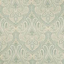 Light Blue/Light Green/Beige Damask Decorator Fabric by Kravet