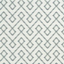 Teal/Slate/White Lattice Decorator Fabric by Kravet