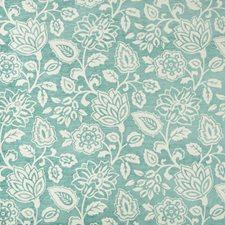 White/Turquoise Botanical Decorator Fabric by Kravet