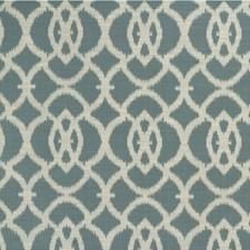 Blue/Beige/White Ikat Decorator Fabric by Kravet