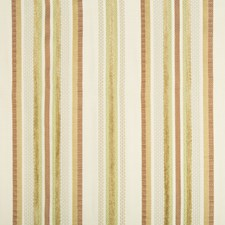 Ivory/Rust/Gold Stripes Decorator Fabric by Kravet