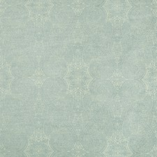 Turquoise/Light Green Paisley Decorator Fabric by Kravet