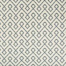 Beige/Light Grey/Blue Lattice Decorator Fabric by Kravet
