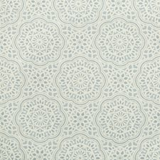 Light Blue/Beige Ethnic Decorator Fabric by Kravet