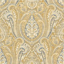 Beige/Blue/Yellow Ethnic Decorator Fabric by Kravet