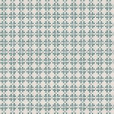 Aqua Geometric Decorator Fabric by Kravet