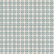 Aqua Geometric Decorator Fabric by Kravet